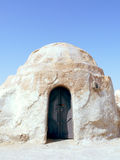 沙漠离开的房子tozeur突尼斯 库存照片