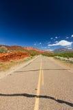 沙漠空的高速公路犹他 库存图片