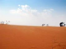 沙漠红色沙子 库存照片