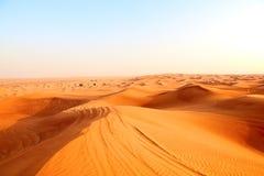 沙漠红色沙子 库存图片