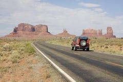 沙漠纪念碑路谷 库存照片