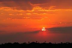 沙漠纳米比亚日落 库存图片