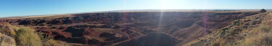 沙漠绘了全景 库存图片