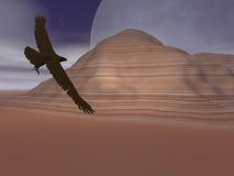 沙漠老鹰月亮 免版税库存照片