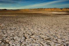 沙漠舱内甲板盐 免版税库存图片