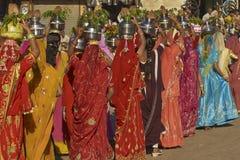 沙漠节日在Jaisalmer,拉贾斯坦,印度 库存图片