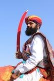 沙漠节日在Rajastan 免版税库存照片