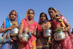 沙漠节日在Rajastan 免版税图库摄影