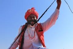 沙漠节日在Rajastan 免版税库存图片