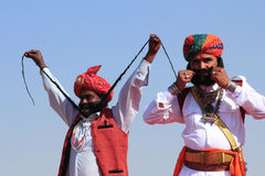沙漠节日在Rajastan 库存照片