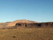 沙漠范围西部的撒哈拉大沙漠 免版税库存照片