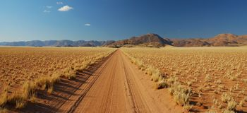 沙漠街道 库存照片