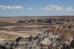 沙漠被绘的视图 免版税库存照片
