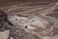 沙漠被绘的视图 库存图片