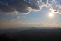 沙漠西奈日出 库存照片
