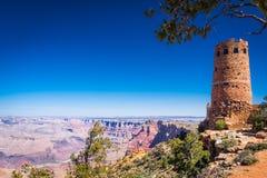 从沙漠视图城楼观看的大峡谷 免版税库存照片