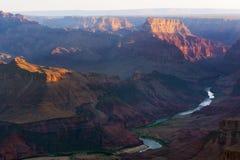 沙漠视图,大峡谷国家公园 免版税库存图片
