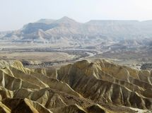 沙漠视图 免版税库存图片