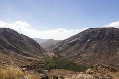 沙漠谷在费埃特文图拉岛 免版税库存图片