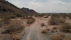 沙漠足迹 免版税库存图片