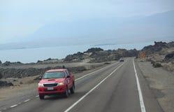 沙漠路在智利 库存照片