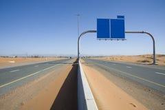 沙漠路场面 库存照片