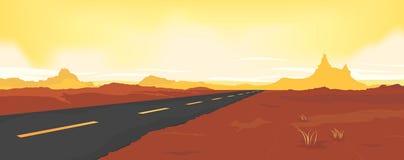沙漠路夏天 库存照片