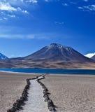 沙漠路径 免版税库存照片