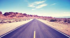 沙漠路,旅行概念图片 库存照片