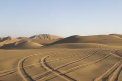 沙漠轨道 免版税图库摄影