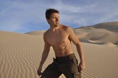 沙漠远足者 图库摄影