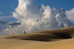 沙漠远足 图库摄影
