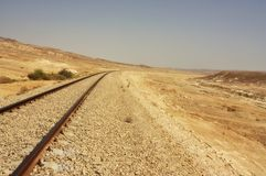 沙漠铁路 免版税库存照片