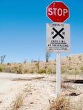 沙漠铁路 图库摄影