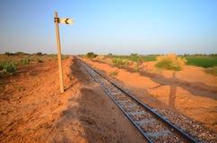 沙漠铁路 库存图片