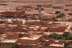 沙漠镇 免版税库存照片