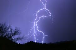 沙漠闪电 库存照片
