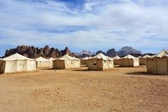 沙漠阵营 库存图片