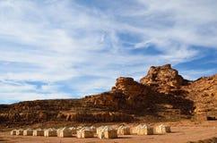 沙漠阵营 免版税图库摄影