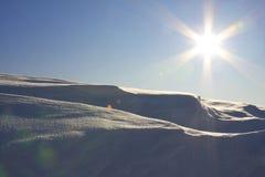 沙漠雪 库存图片