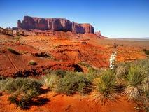 沙漠风景在亚利桑那,纪念碑谷 库存照片