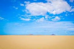 沙漠风景在佛得角,非洲 免版税图库摄影