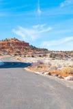 沙漠风景高速公路 免版税库存图片