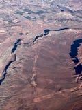 沙漠风景鸟瞰图  库存照片