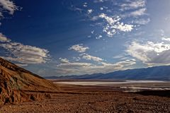 沙漠风景,死亡谷,加利福尼亚 免版税库存图片