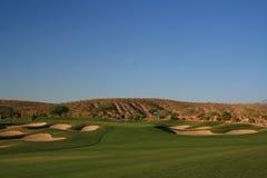 沙漠高尔夫球 图库摄影