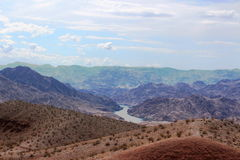 沙漠高横向 免版税库存图片