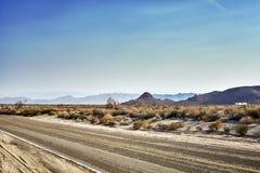 沙漠高速公路,旅行概念,美国 库存图片