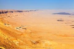 沙漠高速公路 库存照片