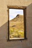 沙漠鬼魂横向城镇 免版税库存照片